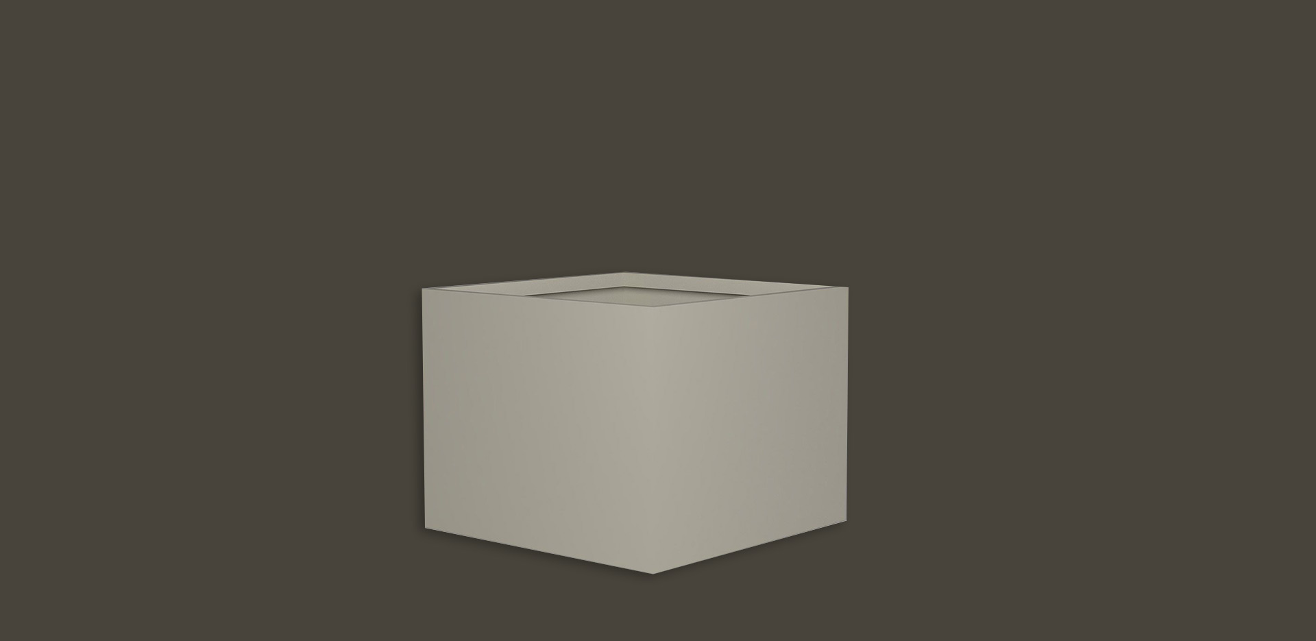 Square Fiberglass GRP Flower Pot 6