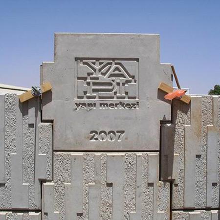 CTP Fiberglas Logolu Beton Kalýbý 12