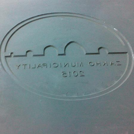 GFK-Glasfaser-Betonform mit Firmenlogo 31