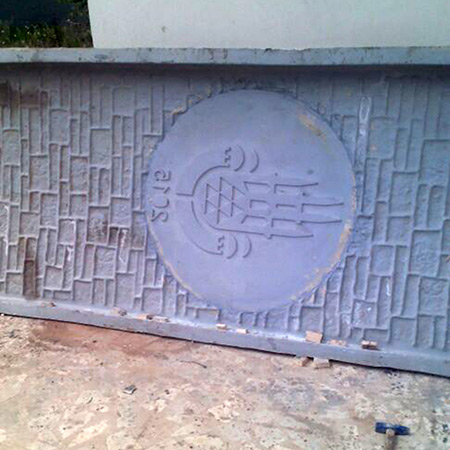 CTP Fiberglas Logolu Beton Kalýbý 35