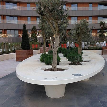 FRP Fiberglass Special Design Potted Plant 4