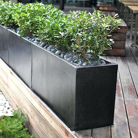 Rectangular Fiberglass GRP Flower Pot 13