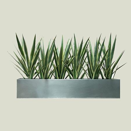 Rectangular Fiberglass GRP Flower Pot 14