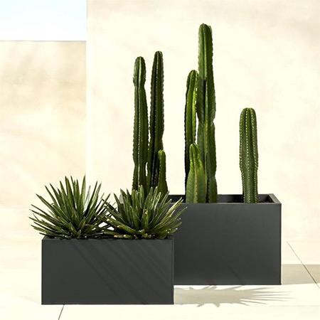 Rectangular Fiberglass GRP Flower Pot 15