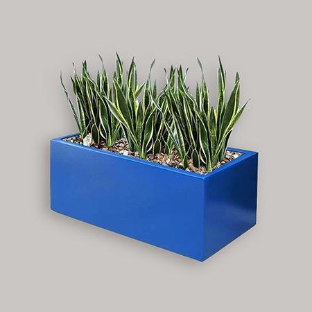 Rectangular Fiberglass GRP Flower Pot 16