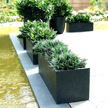 Rectangular Fiberglass GRP Flower Pot 20