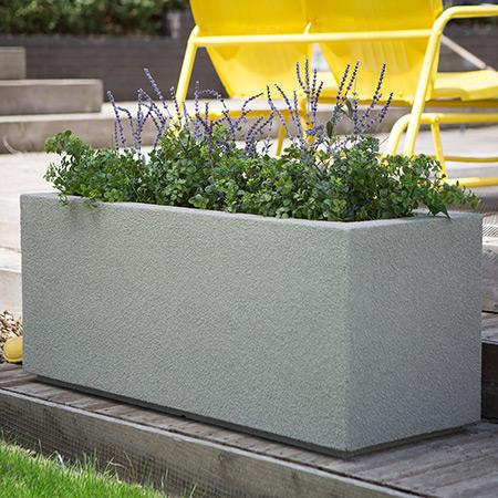 Rectangular Fiberglass GRP Flower Pot 6