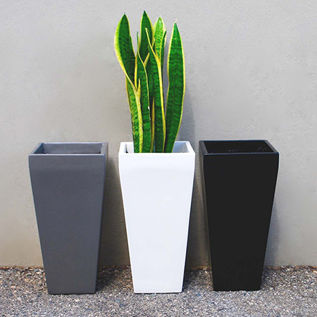 Square Conical Fiberglass GRP Flower Pot 1