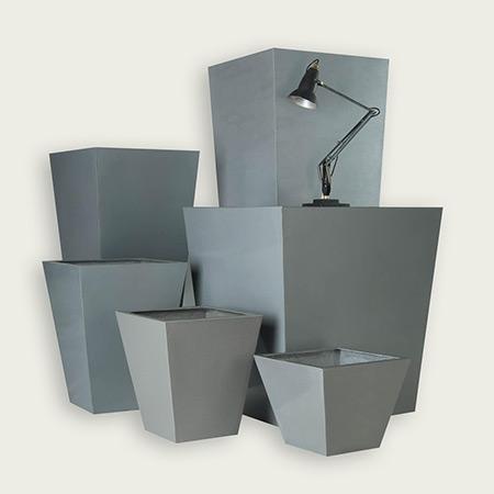 Quadratischer konischer Glasfaser-GFK-Blumentopf 10