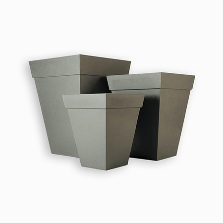 Quadratischer konischer Glasfaser-GFK-Blumentopf 11