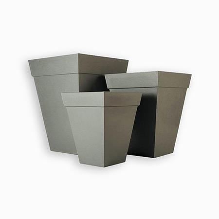 Square Conical Fiberglass GRP Flower Pot 11