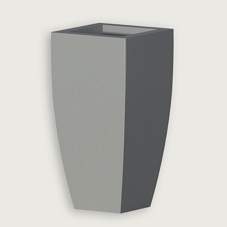 Square Conical Fiberglass GRP Flower Pot 12