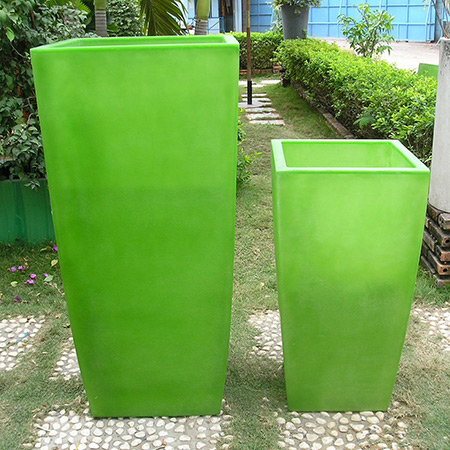 Square Conical Fiberglass GRP Flower Pot 14