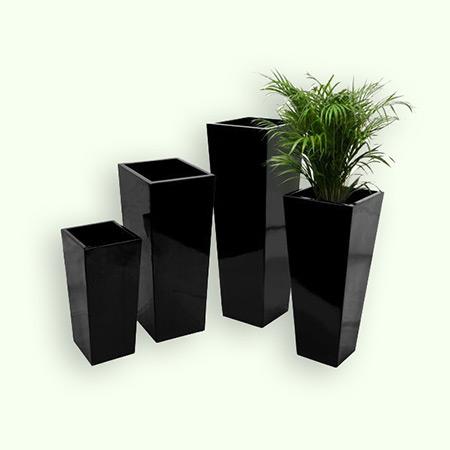 Quadratischer konischer Glasfaser-GFK-Blumentopf 15