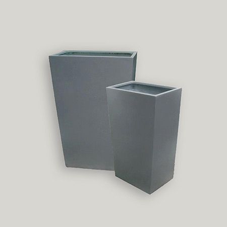 Square Conical Fiberglass GRP Flower Pot 16