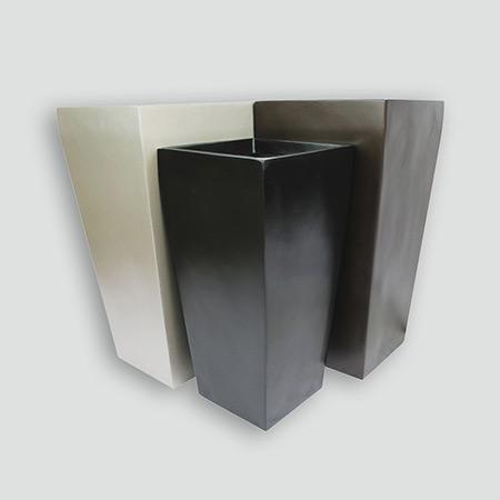Quadratischer konischer Glasfaser-GFK-Blumentopf 5