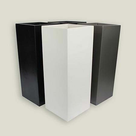 Quadratischer konischer Glasfaser-GFK-Blumentopf 8