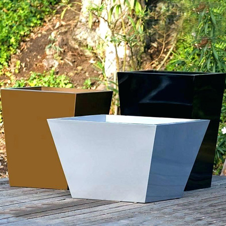 Square Conical Fiberglass GRP Flower Pot 9