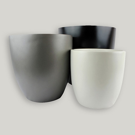 Round Conical Fiberglass GRP Flower Pot 11