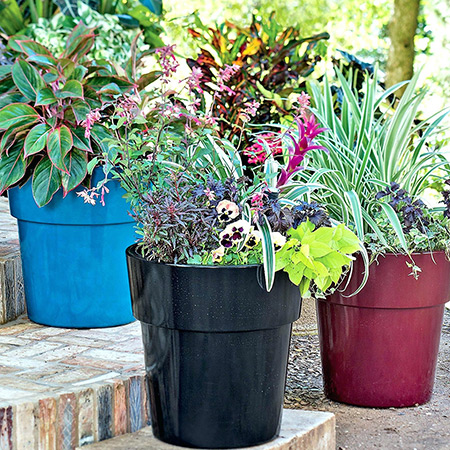 Round Conical Fiberglass GRP Flower Pot 12