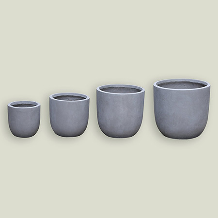 Round Conical Fiberglass GRP Flower Pot 6