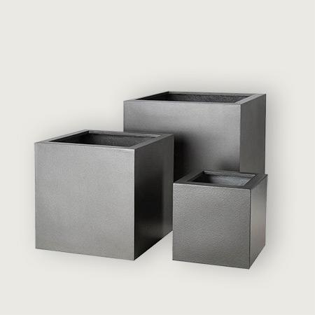 Quadratischer Glasfaser-GFK-Blumentopf 1