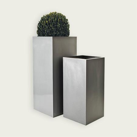 Quadratischer Glasfaser-GFK-Blumentopf 3