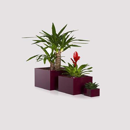 Quadratischer Glasfaser-GFK-Blumentopf 9