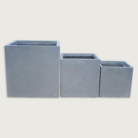 Quadratischer Glasfaser-GFK-Blumentopf 12
